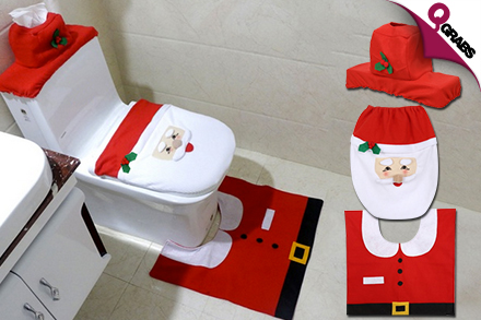 From QR59 Deck Your Bathroom With A Christmas Themed Toilet Decoration Set Up To QR220 Value